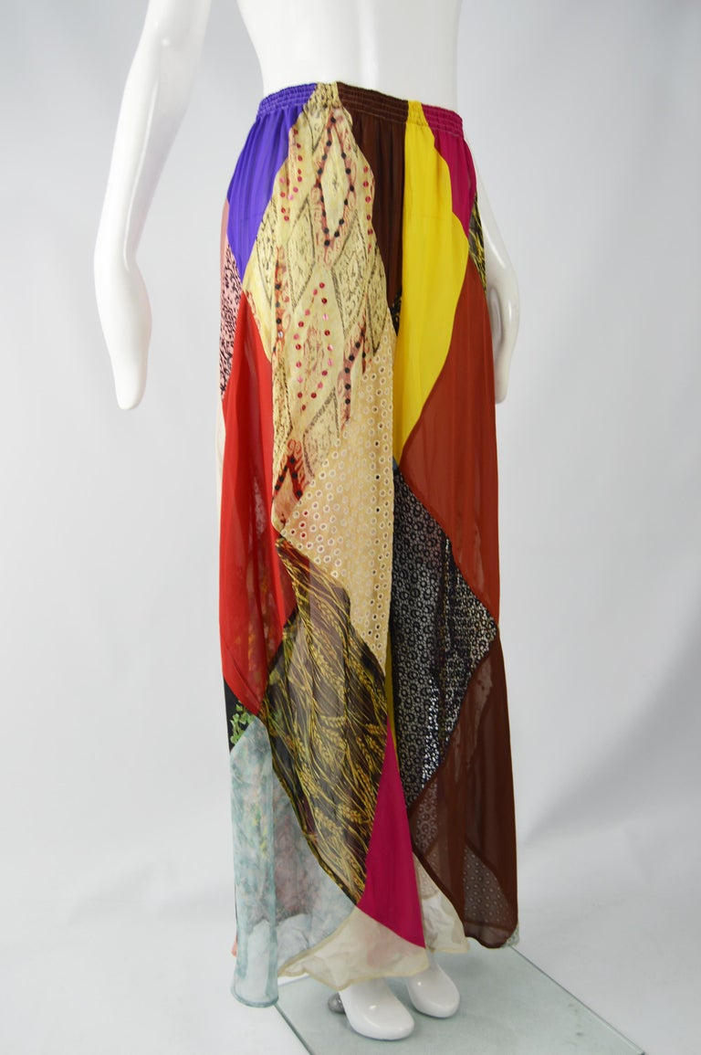 Katharine Hamnett Vintage Wide Leg Palazzo Pants In Good Condition For Sale In Doncaster, South Yorkshire