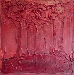 Red Grove, Mixed Media on Canvas