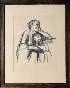 Arbeiterfrau mit schlafendem Jungen