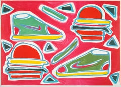 Cheeseburger Deluxe - print lithograph pop art contemporary art