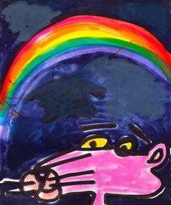 Chroma -- Lithograph, Pink Panther, Rainbow, Pop Art by Katherine Bernhardt