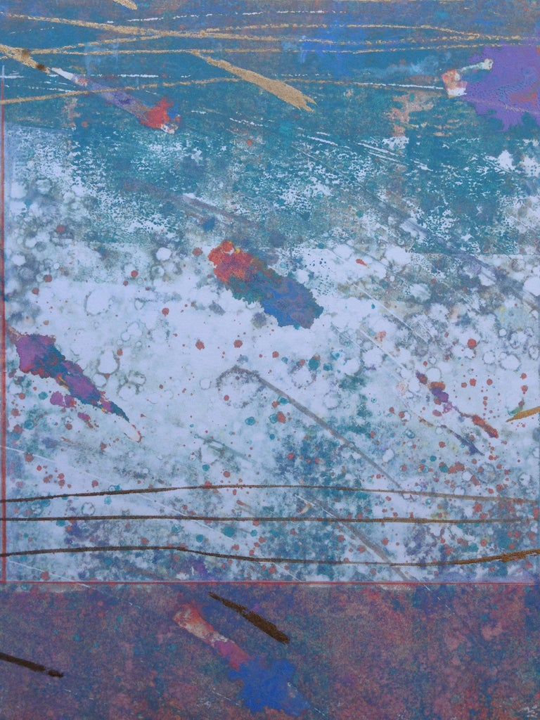 Abstract Series #39 Fireworks - Abstract Expressionist Print by  Katherine Chang Liu