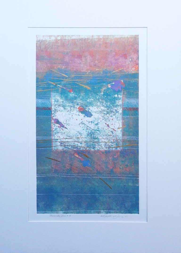 Katherine Chang Liu Abstract Print -  Abstract Series #39 Fireworks