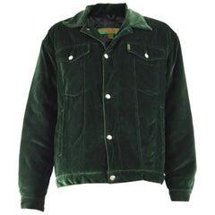Katherine Hamnett Mens Vintage Green Velvet Jacket