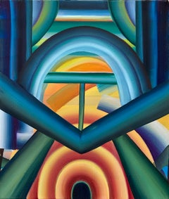The Desire To Let Everything In, Oil Canvas Painting, Abstract Geometric Pattern