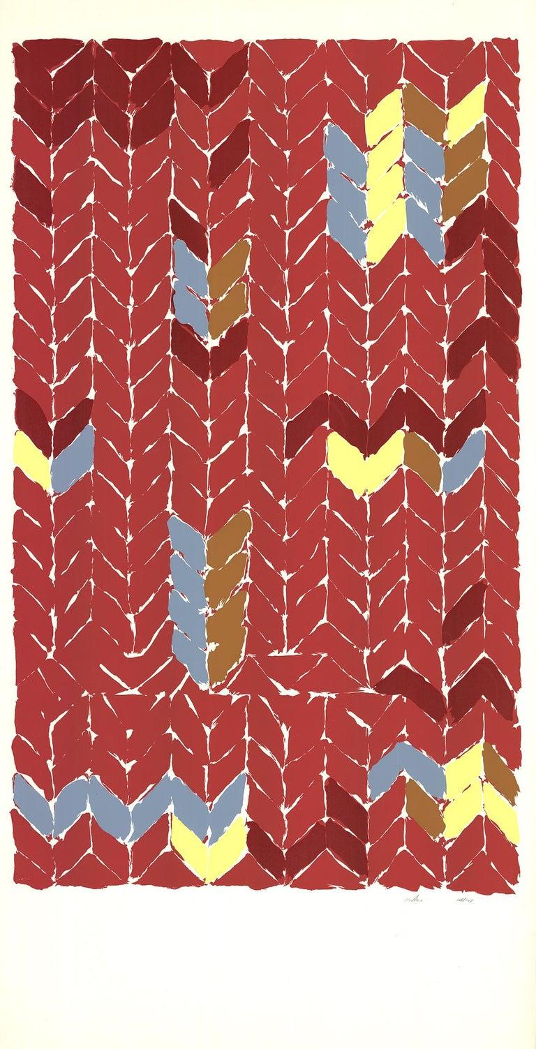 "Katherine Porter-Music (Newport Jazz Festival)-82"" x 40""-Serigraph-1972 - Print by Katherine Porter"