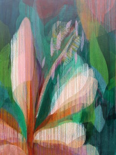 """(Jubilee) Hibiscus"" - Abstract Botanical Painting - Diebenkorn"