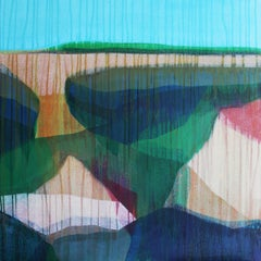 """(Jubilee) Marshscape No. 1"" - Abstract Landscape Painting - Diebenkorn"