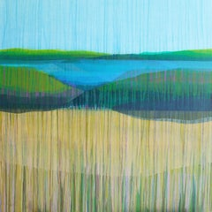"""""""(Jubilee) Marshscape No. 5"""" - Abstract Landscape Painting - Diebenkorn"""