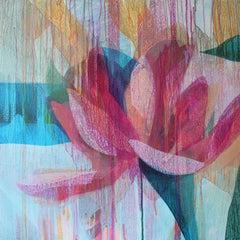 """(Jubilee) Peony"" - Abstract Botanical Painting - Diebenkorn"