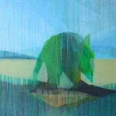 """(Jubilee) Tybee Palm"" - Abstract Landscape Painting - Diebenkorn"