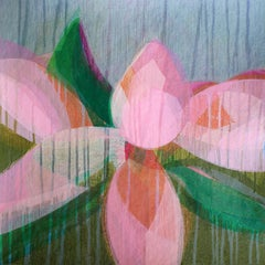 """(Magnolia II)  Forest"" - Colorful Abstract Botanical Painting - Frankenthaler"