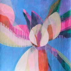 """(Magnolia II) Thistle"" - Colorful Abstract Botanical Painting - Frankenthaler"