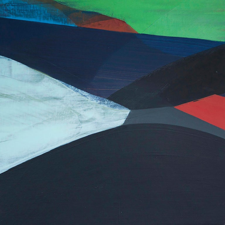 """Katherine Sandoz Abstract Painting - """"(Overpass) Paved No. 1"""" - Colorful Abstract Landscape Painting - Diebenkorn"""