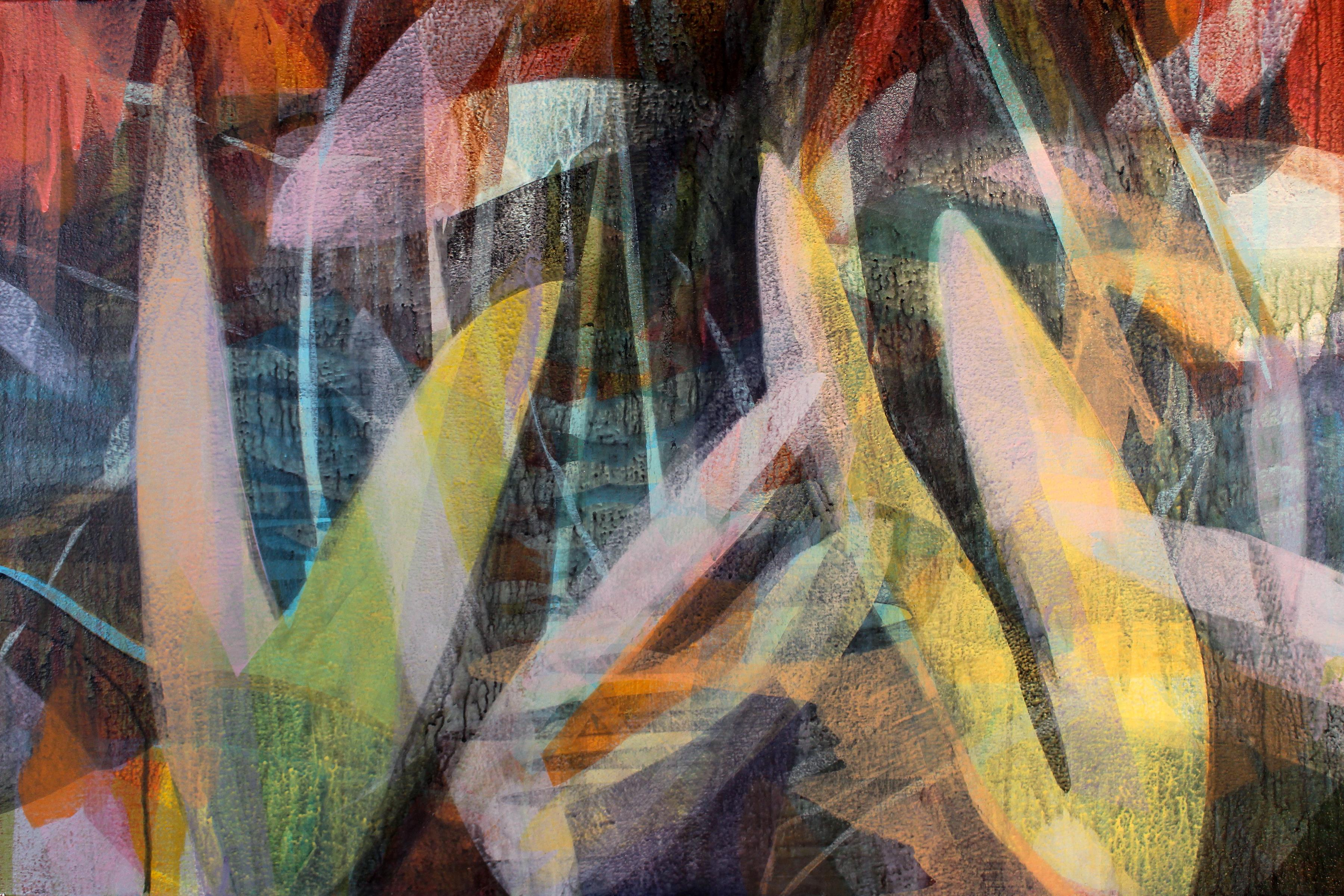"""(sequoia) ditch gazer no. 1"" - colorful abstract landscape - marsh - Diebenkorn"