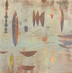 India 29 - Monotype Abstract Shapes in Earth Tones