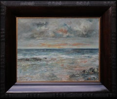 Arran Seascape - Scottish 1915 Impressionist art oil painting female artist