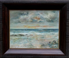 Morning Brightness Arran - Scottish art Impressionist oil seascape female artist