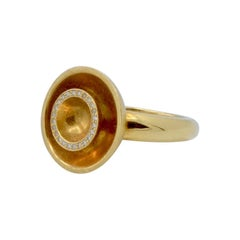 Kathleen Dughi 18 Karat Gold and diamond Orbit Ring