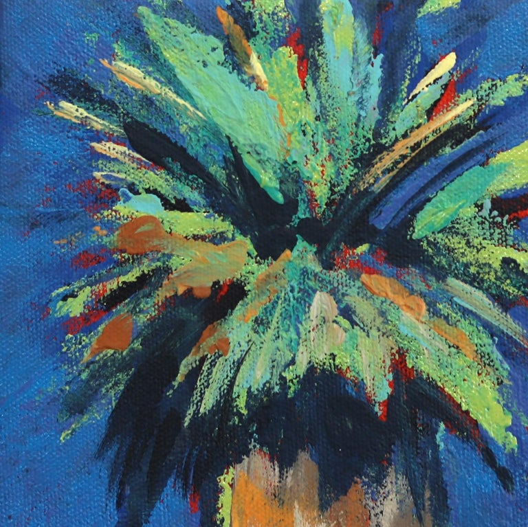 Cerulean - Impressionist Painting by Kathleen Keifer