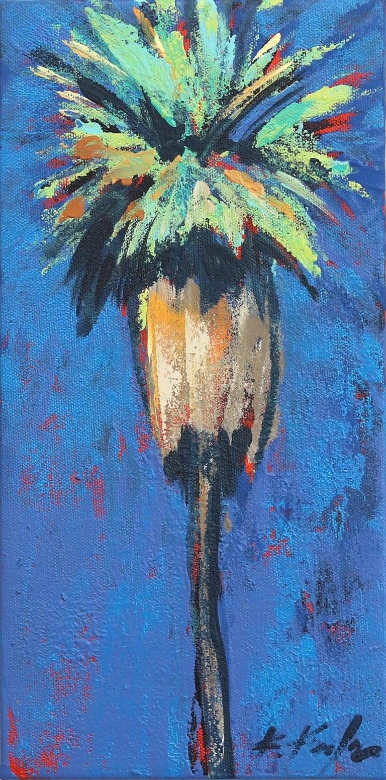 Kathleen Keifer Abstract Painting - Cerulean
