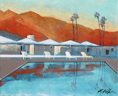 Mid Century Palm Springs Sunset