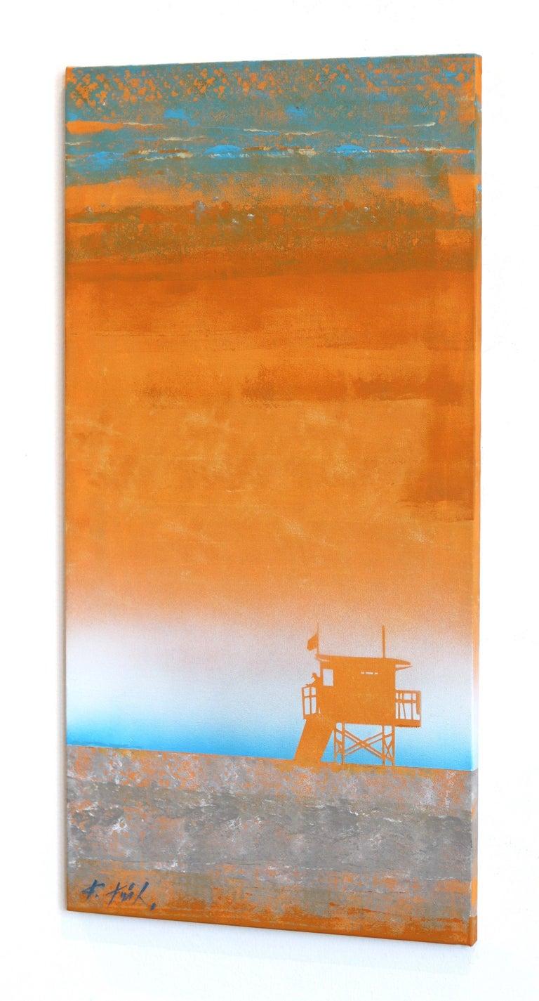 Tangerine Heat - Orange Abstract Painting by Kathleen Keifer