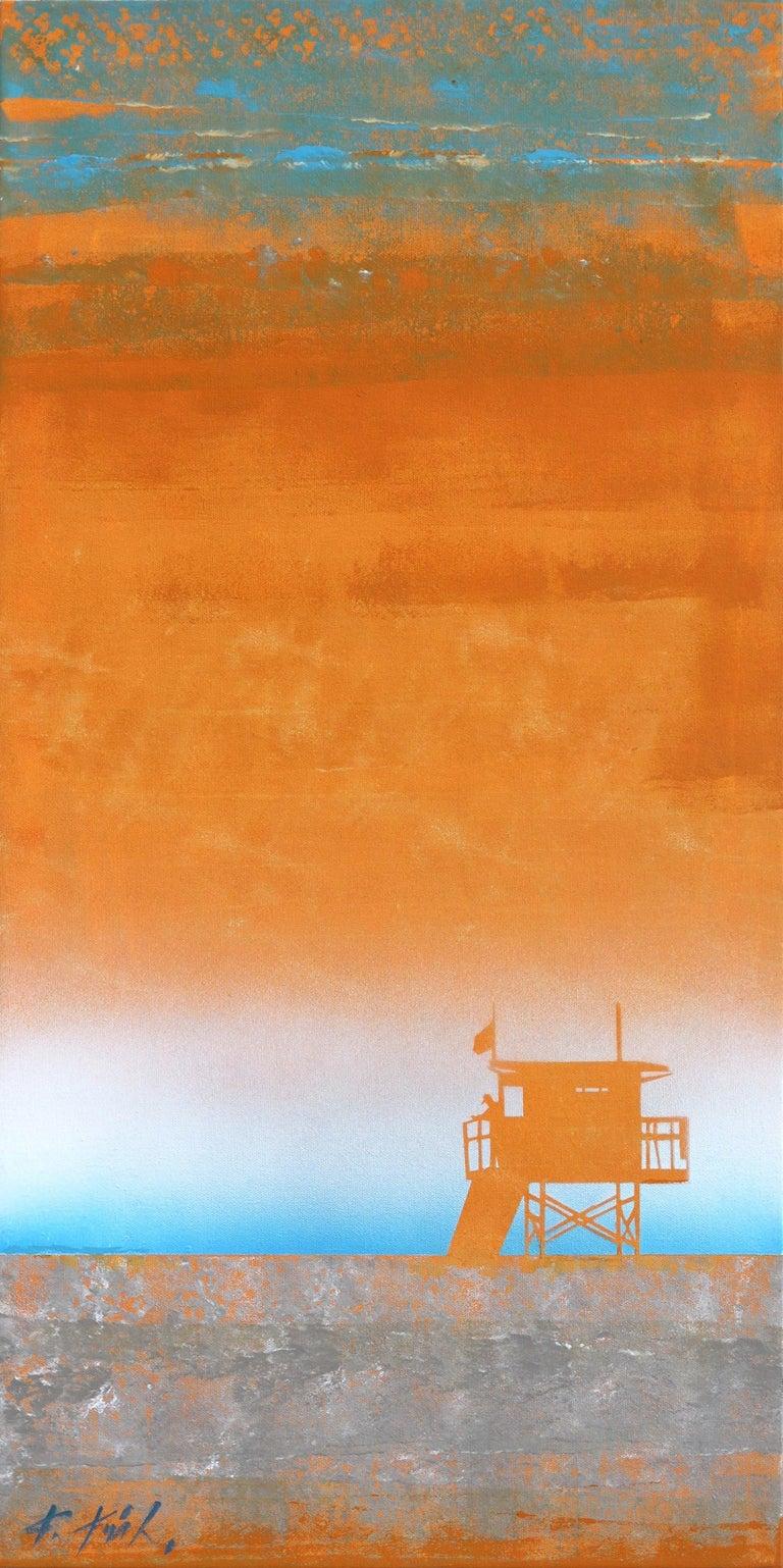 Kathleen Keifer Abstract Painting - Tangerine Heat