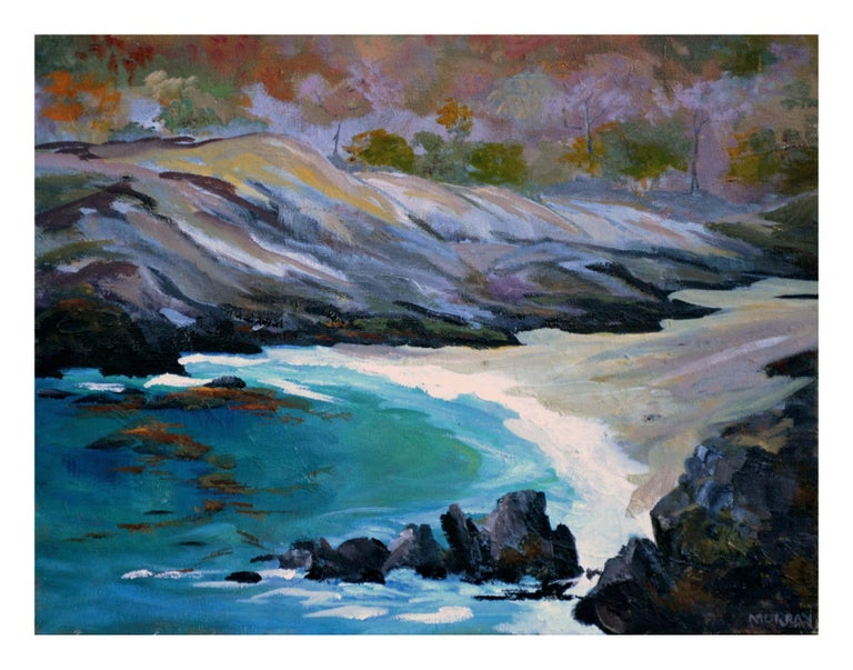 Carmel Highlands Landscape - Painting by Kathleen Murray