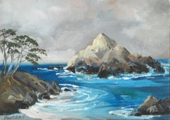 Monterey Cypress on the Rocks - Seascape