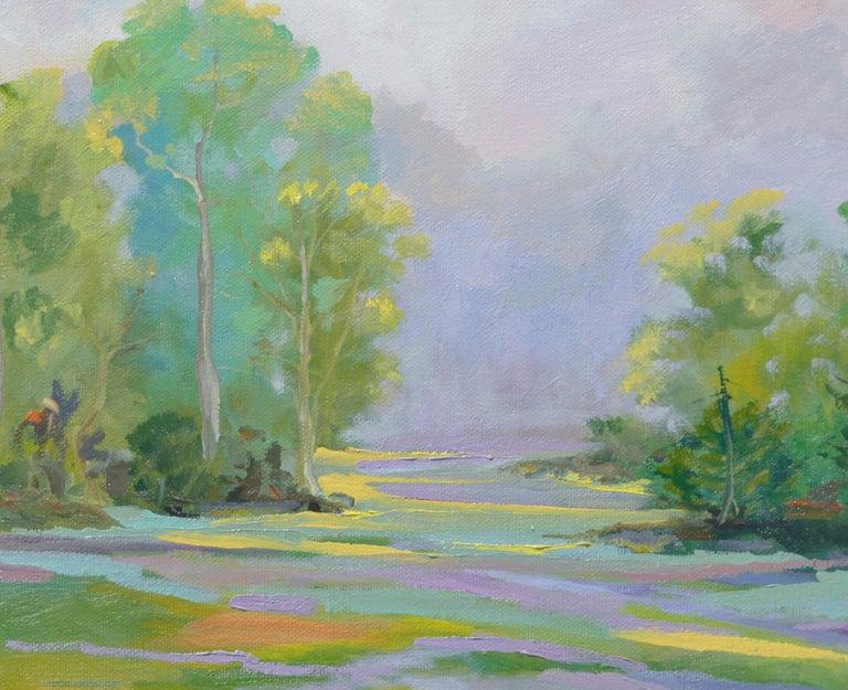 Lavender Creek - Painting by Kathleen Murray