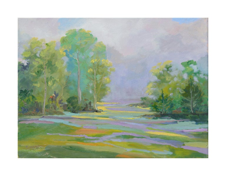 Kathleen Murray Landscape Painting - Lavender Creek