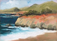 Orange Cliffs at Big Sur Landscape