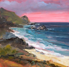 Pink Sunset at the Cove - Landscape