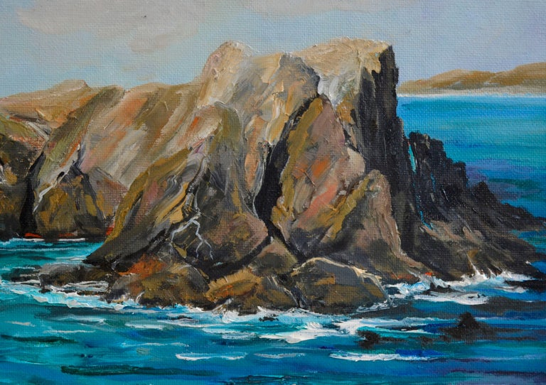Point Lobos State Park Landscape - Painting by Kathleen Murray