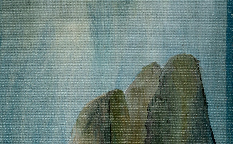 Three Large Cliffs in the Sea - Painting by Kathleen Murray