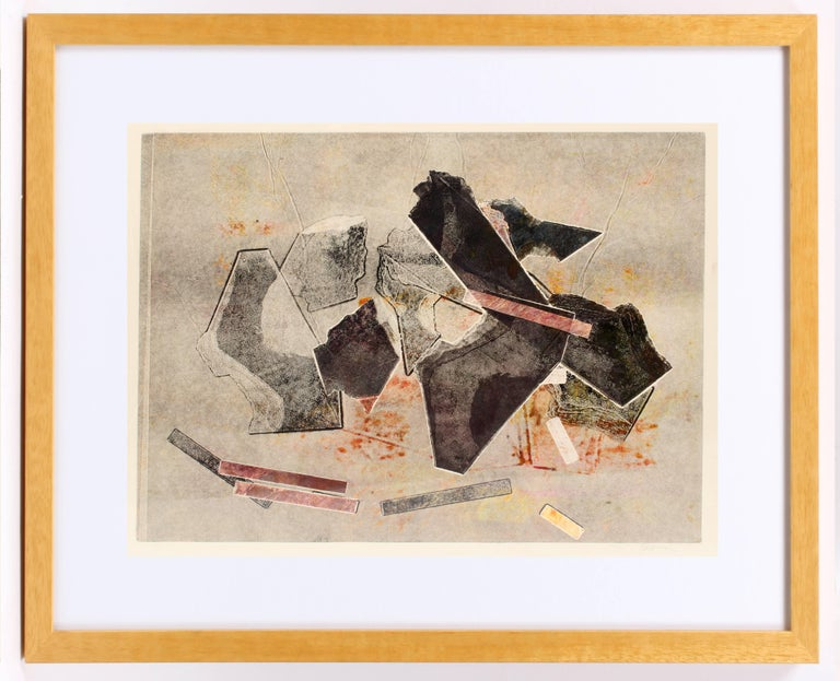Untitled (Pink and Black) - Print by Kathleen Sherin