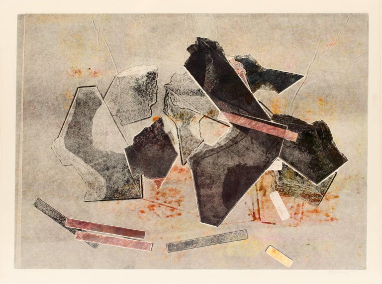 Kathleen Sherin Abstract Print - Untitled (Pink and Black)