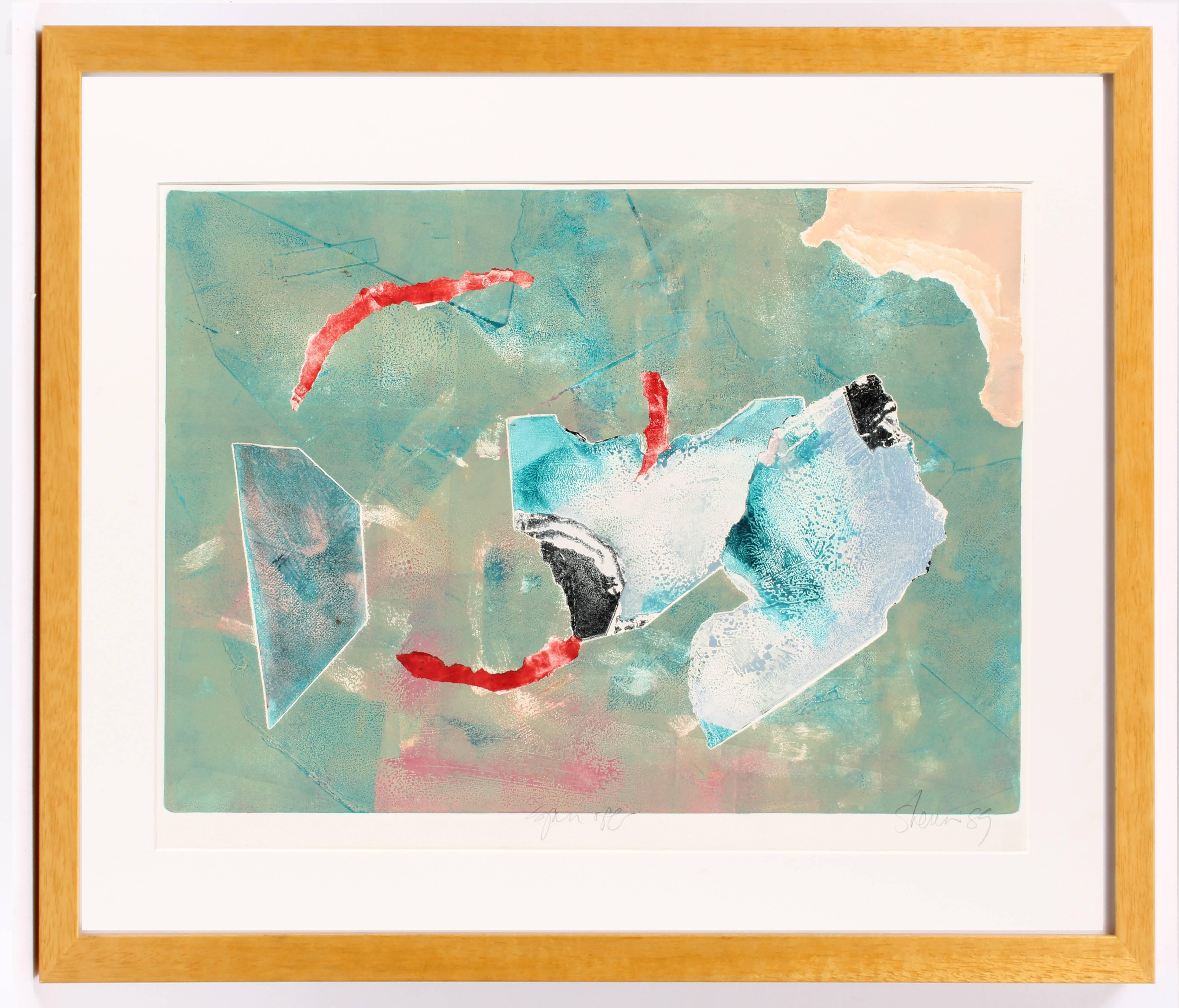 Untitled (Turquoise and Red)