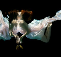 Feather - underwater photography, archival metallic paper contemporary mounted