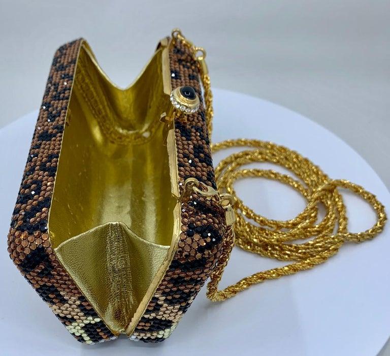 Kathrine Baumann Leopard Design Swarovski Crystal Minaudiere Evening Bag For Sale 6
