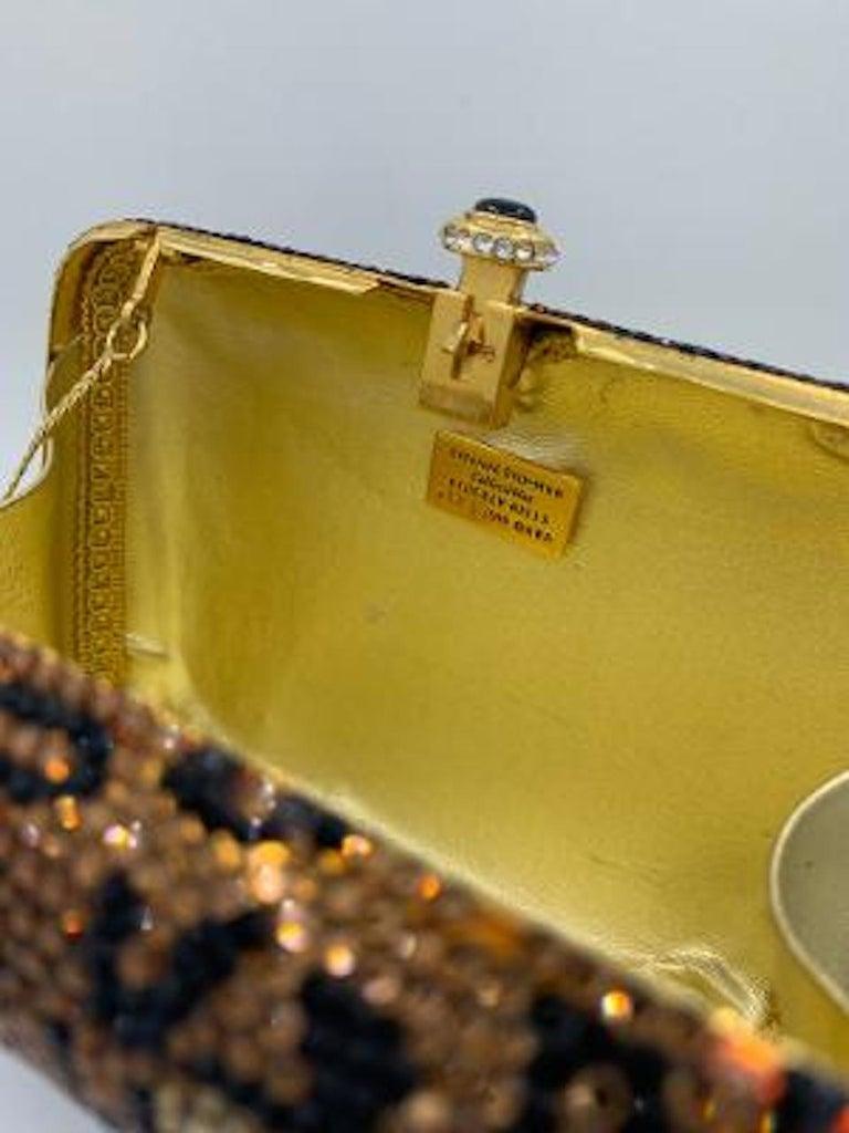 Kathrine Baumann Leopard Design Swarovski Crystal Minaudiere Evening Bag For Sale 5