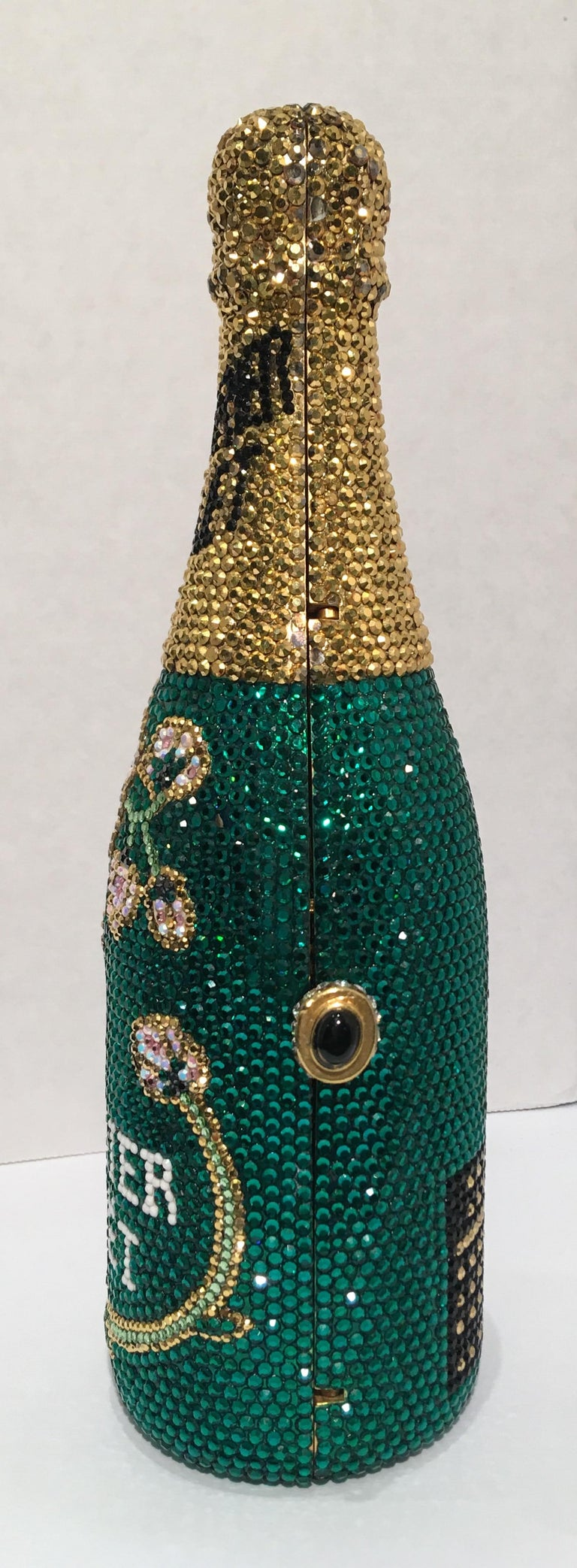 Black Kathrine Baumann Limited Edition Perrier Jouet Bottle Miniaudiere Evening Bag For Sale