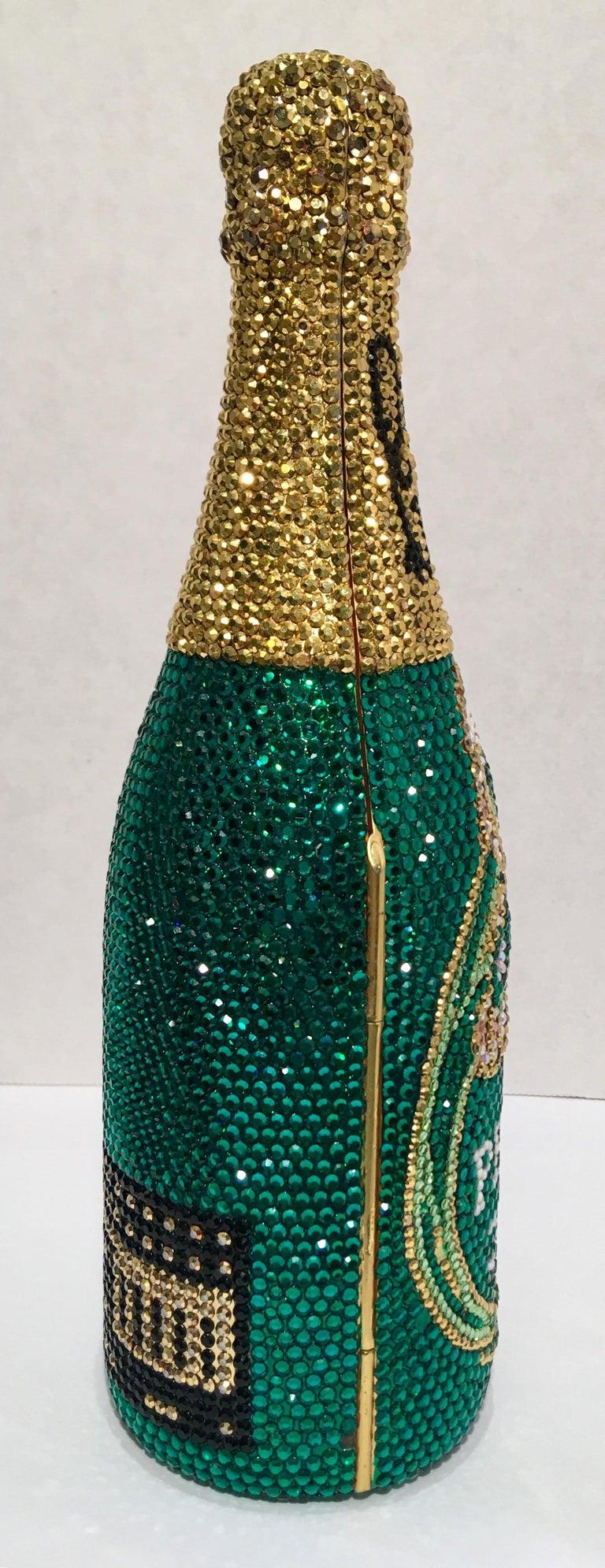 Women's Kathrine Baumann Limited Edition Perrier Jouet Bottle Miniaudiere Evening Bag For Sale