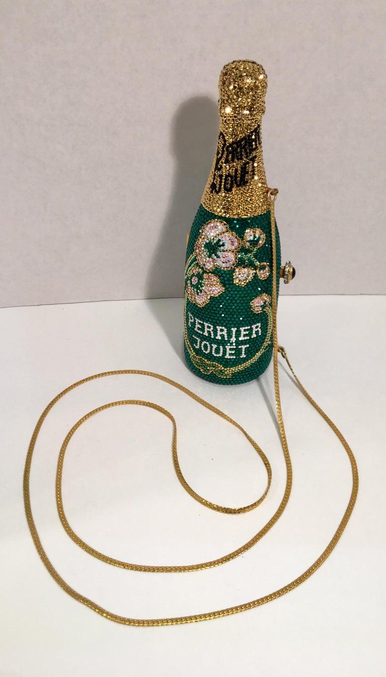 Kathrine Baumann Limited Edition Perrier Jouet Bottle Miniaudiere Evening Bag For Sale 2