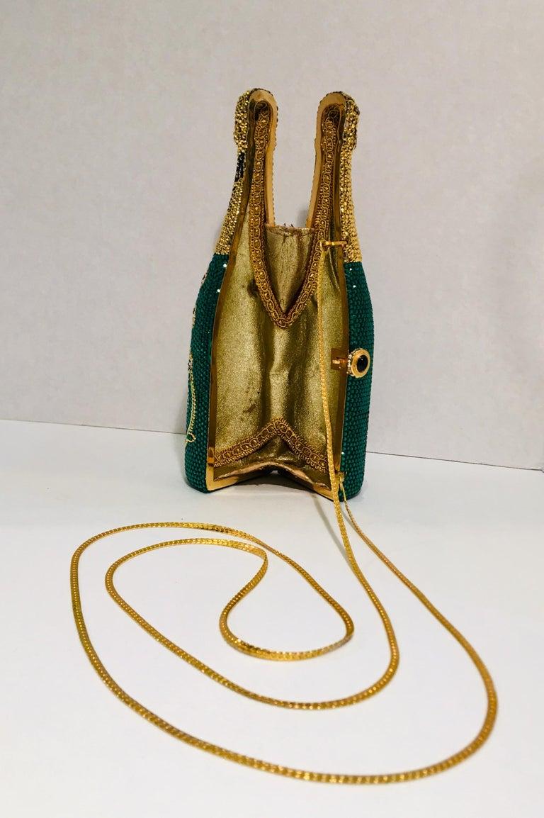 Kathrine Baumann Limited Edition Perrier Jouet Bottle Miniaudiere Evening Bag For Sale 3