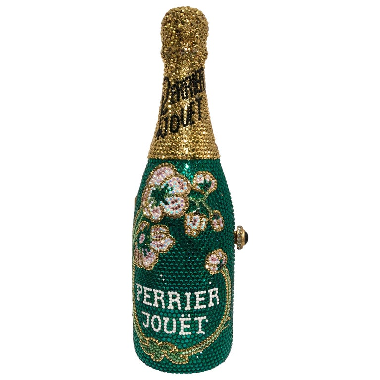 Kathrine Baumann Limited Edition Perrier Jouet Bottle Miniaudiere Evening Bag For Sale