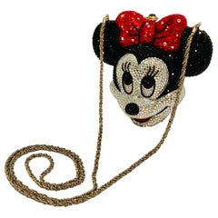 Kathrine Baumann Minnie Mouse Disney Swarovski Crystal Miniaudiere Evening Bag
