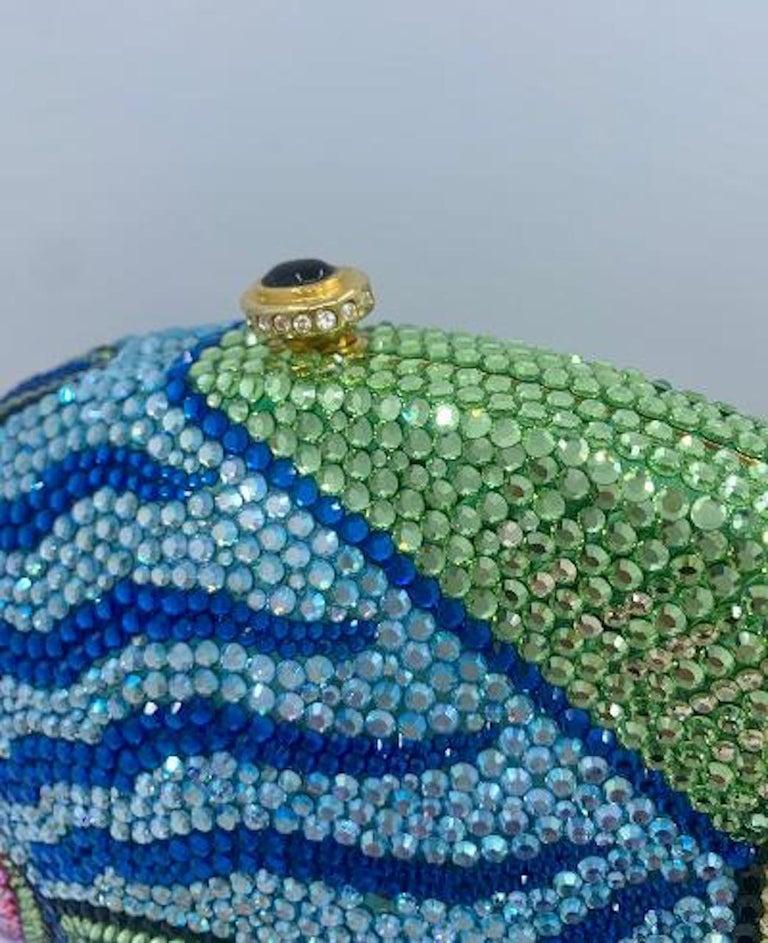 Kathrine Baumann Tropical Fish Swarovski Crystal Minaudiere Evening Bag For Sale 6