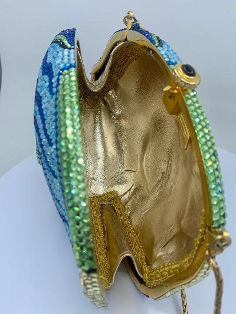 Kathrine Baumann Tropical Fish Swarovski Crystal Minaudiere Evening Bag For Sale 8